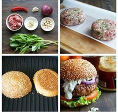 Сочный гамбургер