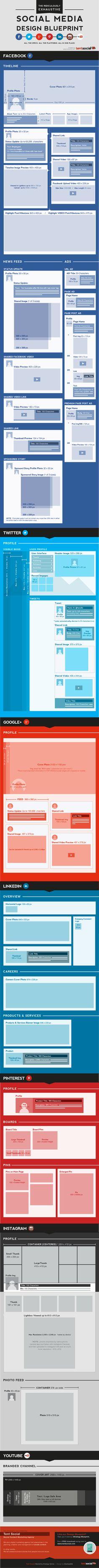 Guia completo com dimensões para as imagens dos perfis das redes sociais.  http://agenciast.com.br/guia-completo-de-dimensoes-para-perfis-das-redes-sociais/