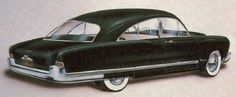This fastback proposal from Brooks Stevens hints at the actual roofline for the second-generation 1951 Kaiser.