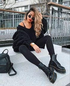 Casual Fall Outfits That Will Make You Look Cool – Fashion, Home decorating Hipster Outfits, Mode Outfits, Casual Outfits, Fashion Outfits, Womens Fashion, Office Outfits, School Outfits, Look Fashion, Fashion Models