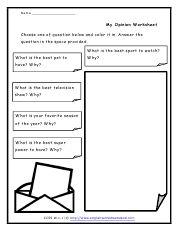 opinion writing worksheets - Google Search Opinion Writing Prompts, Writing Worksheets, Google Search, Handwriting Sheets