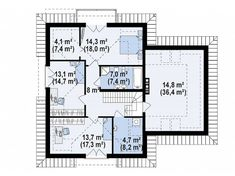 Дом из камня Женева 12 на 14,3 м