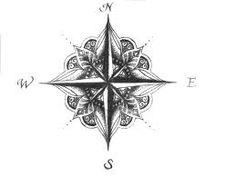 Картинки по запросу compass flower tattoo