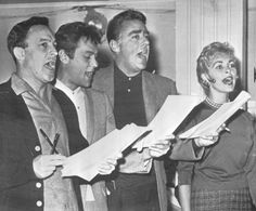 Gene Kelly, Tony Curtis, Peter Lawford, Janet Leigh