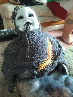 i made this my 1st creepy death doll