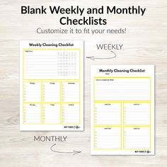 Cleaning Printable Bundle Cleaning Schedules Weekly | Etsy Weekly Cleaning Checklist, Cleaning Schedules, Cleaning Tips, Bullet Journal Books, Book Journal, Computer Paper, Cover Pages, Helping Others, Declutter