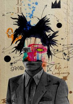 "Saatchi Art Artist Loui Jover; Drawing, ""samo (basquiat) .....((SOLD))"" #art"