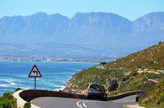 Hottentots-Holland mountain range visible behind Gordons Bay on the horison. Last few bends of Clarence Drive just before you reach the Helderberg area coming from Rooi-Els (along the Whal Route). #gordonsbay #clarencedrive #helderberg