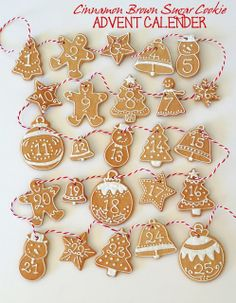 cinnamon brown sugar Christmas Advent cookies