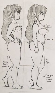 Same Lily, Different Model by Pocharimochi on DeviantArt Body Drawing, Drawing Base, Cartoon Drawings, Art Drawings, Art Sketches, Cartoon Body, Fat Girl Cartoon, Character Art, Character Design