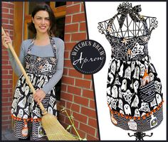 Witches Brew Halloween Apron: Fabric Depot | Sew4Home  ~ A little late to the party, but great for next year ~