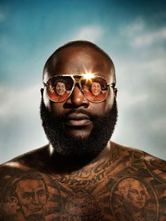 Andy Samberg & Rick Ross by F. Scott Schafer