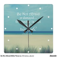 Shop Be Not Afraid Bible Verse Square Wall Clock created by Christian_Quote. Clock Template, Wall Clocks, Wall Quotes, Christian Quotes, Bible Verses, Faith, Display, Artwork, Prints