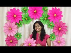 Very Easy Paper Flower Decoration at home Tissue Paper Flowers Easy, Simple Paper Flower, Paper Flower Decor, Large Paper Flowers, Paper Flower Tutorial, Giant Paper Flowers, Paper Flower Backdrop, Big Flowers, Paper Decorations