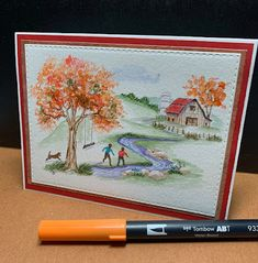 Garden Wagon, Beautiful Winter Scenes, Tombow Markers, Art Impressions Stamps, New Bible, Decorated Jars, Fairy Doors, Get Well Cards, Nature Scenes
