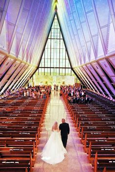 Air Force Academy Chapel wedding...Omg stunning! But WHY are you in Colorado?! Ugh :)