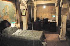 Churchill's Bedroom at Churchill Cabinet War Museum - London.