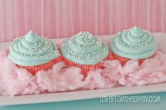 cotton candy cupcakes, cute!