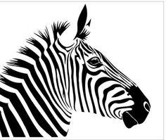 Items similar to Reusable Laser-Cut Mylar Stencil Zebra on Etsy Stencil Fabric, Stencil Art, Stencil Designs, Fabric Painting, Stenciling, Zebra Drawing, Zebra Illustration, Animal Stencil, Silhouette Painting