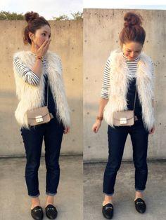 CA Fashion Womens Faux Twinset Batwing Striped Chiffon Outer Blouson Dress