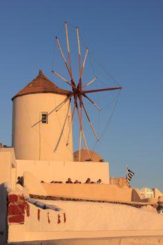 Windmill at Oia, Santorini, Greece