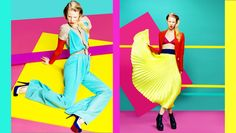 Image result for color blocking model photography