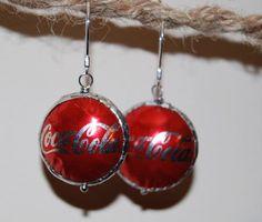 Upcycled silver coke earrings. $10.00, via Etsy.