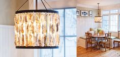 Beautiful oyster shell chandelier for any home! #shopBM