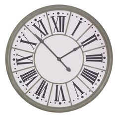 109cm Zinc Effect Wall Clock Garden Furniture, Bedroom Furniture, Boutique Furniture from Optimal World