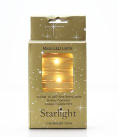 Candlelight Glow Battery Operated  Micro Lights on Copper Wire. Lights for Mason Jars, Centerpieces, Mantels, Wreaths. Weddings, Christmas Decorations. TheHolidayBarn.com