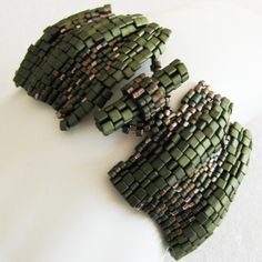 Large Forest Ripples Peyote Cuff 2512  A Sand Fibers by SandFibers, $56.00