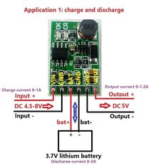 This module without lithium battery over-discharge protection. Output current : 0-1.2A(5V);. 1PCS DD05CVSB_5V 2 in 1 charge and Discharger boost modules output 5V. MCU development board. Storage temperature : -65° to  125°. | eBay!