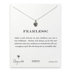 Dogeared Jewelry Fearless! Skull Necklace Sterling Silver