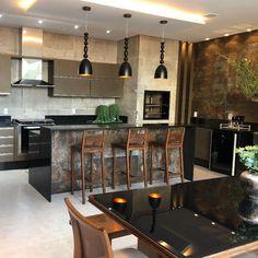 Open Plan Kitchen Living Room, Kitchen Room Design, Kitchen Dinning, Modern Kitchen Design, Home Decor Kitchen, Interior Design Kitchen, Best Living Room Design, Bars For Home, House Design
