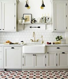 In love with this kitchen via @housebeautiful