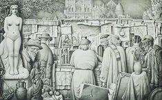 Jan Strube (1892-1985) - Paris Bookstalls, 1953