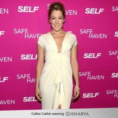 Singer Colbie Caillat wears Isharya rhinestone bangles to the 'Safe Haven' New York Screening at Sunshine Landmark on February 11, 2013 in New York City. We love her white-haute dress!
