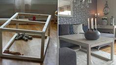 Slik lager du et enkelt stuebord. Entryway Tables, Dining Table, Interior, Furniture, Home Decor, Diy Ideas, Coffee, Beige, Rome