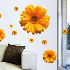 Decor4Walls Samolepka na zeď AY6015b Květy gerber