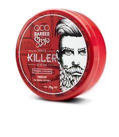 QOD BARBER SHOP POMADA KILLER  é similar a pomada QOD BARBER SHOP WALK, porém com um detalhe: possui fixação forte. A pomada capilar fixadora com efeito Matte, promove a fixação dos cabelos por longos períodos sem pesar, estrutura e texturiza cabelos curtos e médios.    Veja outras opções de produtos    QOD Barber Shop.