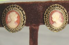 Cameo Earrings... Love cameo jewelry! Cameos are so stunning