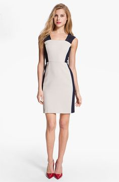 DKNYC Eyelet Trim Colorblock Dress available at #Nordstrom