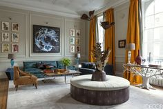 HOUSE TOUR: This Spanish-Inspired London Townhouse Is All About Jewel Tones - ELLEDecor.com