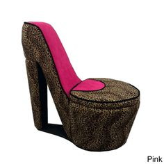 ORE Cheetah Print High Heel Storage Chair
