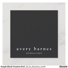 Shop Simple Black Creative Professional Modern Square Square Business Card created by sm_business_cards. Referral Cards, Photography Business Cards, Square Card, Floral Watercolor, Simple Designs, Things To Come, Creative, Modern, How To Make