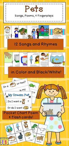 Pets are super companions at home and at school…and they're fun, too! Your crew will have a dog-gone good time learning about various pets and their needs with these pet-themed songs, poems, and fingerplays! Updated 8/13/15