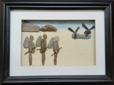 Custom made Pebble Art Pictures from: http://www.pebbleartpictures.com/ #Military. #WarHero