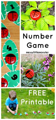 Messy Little Monster: Learn to count ladybird craft (FREE PRINTABLE NUMBER LEAVES)