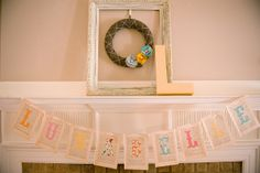 baby shower banner from vintage pages and sweet letters. / via livingtheswelllife