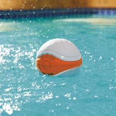 iSplash Floating Speaker - Designed to float along on the surface while you lounge in the pool, bath, or hot tub, this high-quality waterproof speaker streams your favorite digital tunes from any Bluetooth-compatible device with a range of over 30 feet.